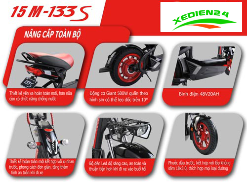 giới thiệu xe gaint m133s plus